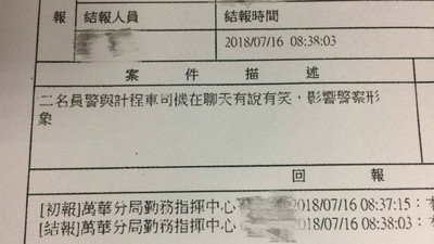 民眾打110檢舉警員「有說有笑沒形象」 網轟:不然比手語?