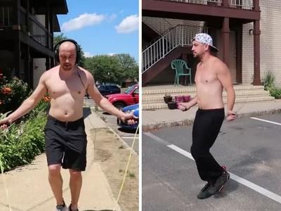啤酒肚全消了!大叔挑戰每天跳繩,撐過停滯期「身體忽冒出線條」