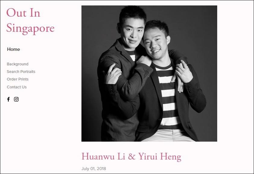 ▲新加坡建國總理李光耀的孫子李桓武(Li Huanwu)與男友合照。(圖/翻攝自Out In Singapore網站)