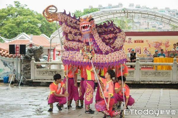 ▲桃園觀音菩薩文化節「全國舞龍賽」。(圖/桃園市政府提供)