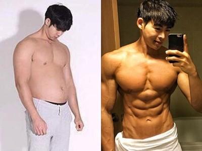 網紅「黃金倒三角男」被起底!百日內苦逼95公斤肥肚迅速消風