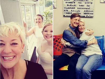 父母反對沒關係 她願「當媽」牽同性情侶走紅毯..婚禮邀請收到手軟