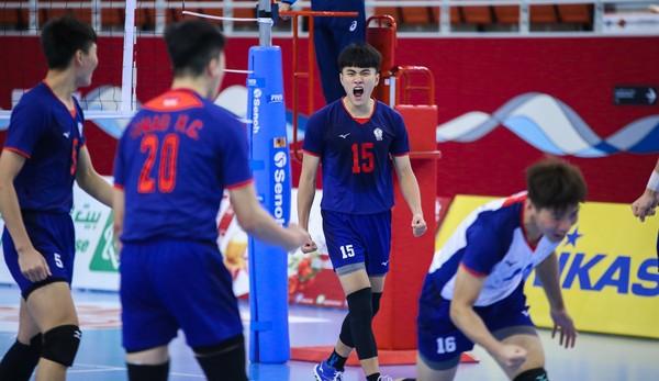 ▲中華U20男排勝日本。(圖/截自亞排聯官網)