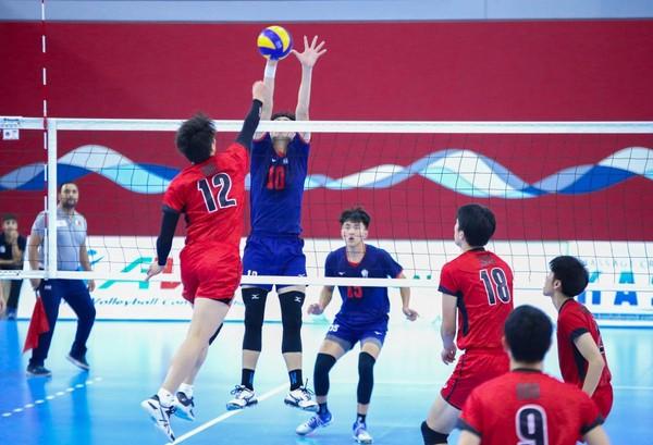 ▲▼▲中華U20男排勝日本。(圖/取自AVC)