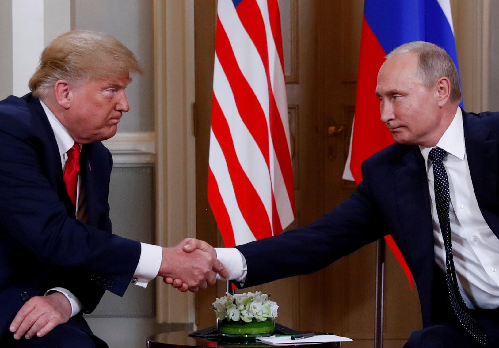 ▲美國總統川普(Donald Trump)在芬蘭首都赫爾辛基(Helsinki)與俄羅斯總統普丁(Vladimir Putin)會面。(圖/路透社)