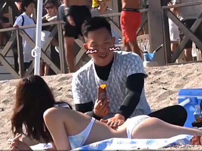比基尼辣妹倒貼「幫我抹防曬♥」 新婚妻一走..老公:日行一善!