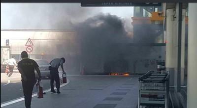 桃機二航廈火警!堆置廢棄物焚毀