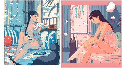 好想和金秘書一樣有個溫馨小窩~插畫師畫出女孩獨居的美好