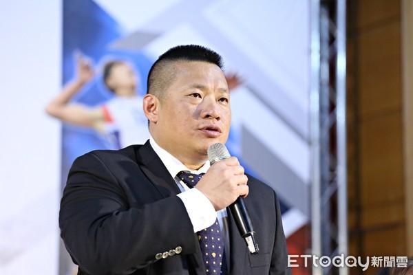 ▲排球協會理事長王貴賢。(圖/記者張克銘攝)