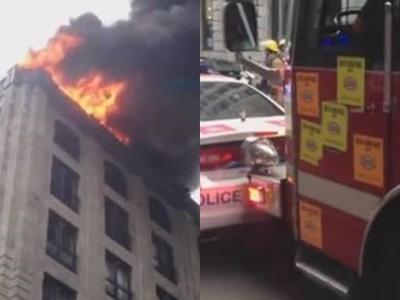「BMW擋救災」大火快燒到隔壁! 霸氣消防車直直往前撞