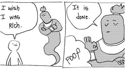 這漫畫有洋蔥!「暖男系」神燈精靈 超廢魔法...但全都是實話