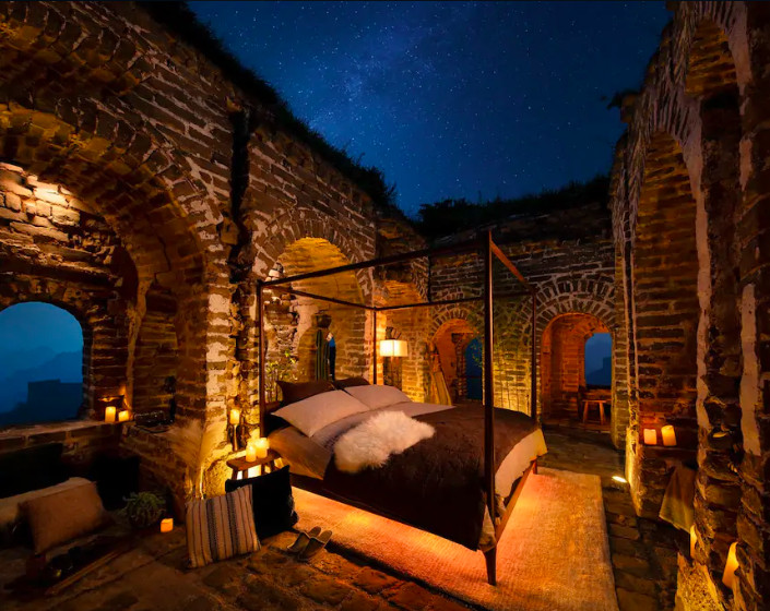 ▲Airbnb奇屋一夜活動,睡在長城裡(圖/翻攝自www.airbnb.com.tw)