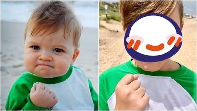 4個「迷因小孩」長大啦! 勵志寶寶說出真相..11年前握拳在吃沙