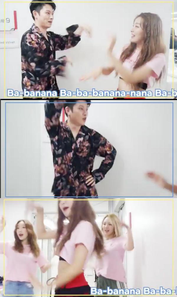 ▲希澈、孝淵和太妍學《Power Up》重點舞蹈。(圖/翻攝自Red Velvet IG)