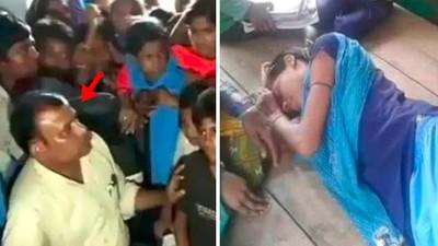 難得一見「仁慈好校長」調職!印度女學生哭到昏倒,集體絕食