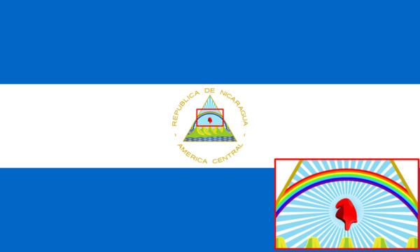 ▲▼尼加拉瓜共和國國旗。(圖/翻攝自維基百科)