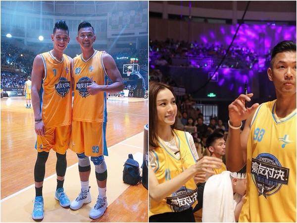 ▲黑人和范瑋琪,一起到深圳參加林書豪的明星慈善賽。(圖/取自黑人陳建州臉書)