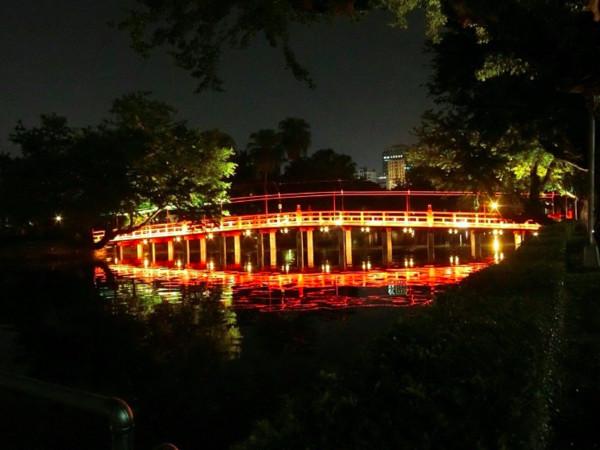 ▲台中公園七夕點燈。(圖/台中市政府提供)