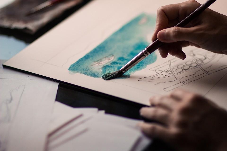 ▲▼畫畫,繪畫,顏料,上色,水彩,才藝,調色盤,畫作。(圖/pixabay)