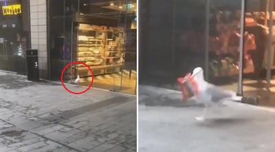 小海鷗偷2包薯片 踩快樂腳逃逸