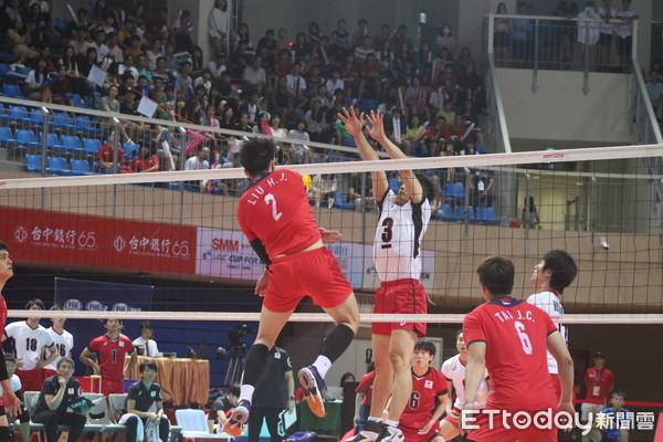 ▲亞洲盃男排,季軍戰,中華vs日本。(圖/記者張穎容攝)