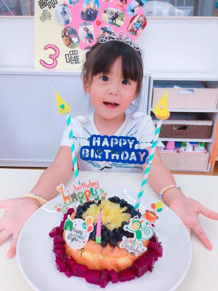 ▲咘咘剛過3歲生日。(圖/翻攝自賈靜雯Instagram)