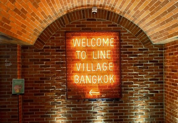 ▲曼谷全球首間line village。(圖/尼克。泰國。流浪看提供)