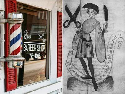 理髮廳三色旋轉燈由來 理髮師身兼外科醫…染血繃帶成生意招牌