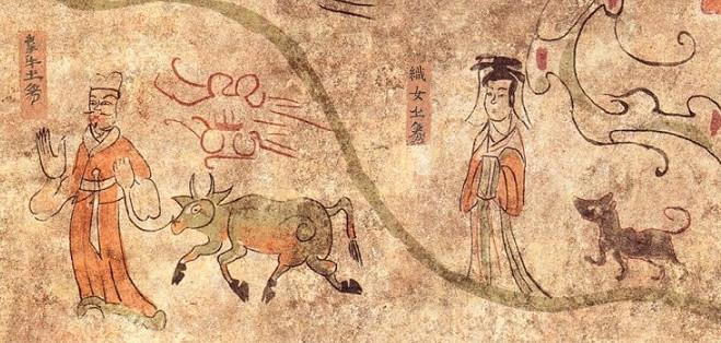 ▲▼高句麗古墳發現牛郎織女壁畫(圖/翻攝自한문화)