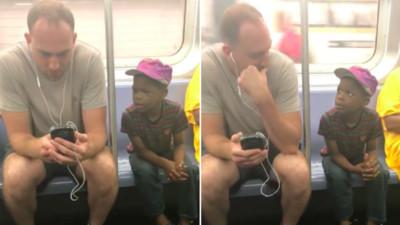 坐地鐵被男童狂「窺屏」 男子拔掉耳機...整隻手機借給他玩!