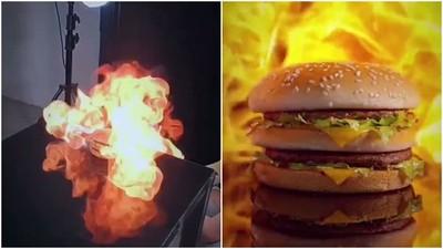 一把噴槍創造「完美火烤漢堡」!瞧瞧低成本美食攝影棚怎麼拍廣告