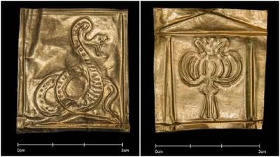 人骨濃湯石棺有新發現!三張「純金薄片」陪葬 網笑:神之卡?