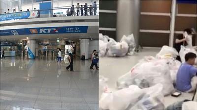 南韓仁川機場變垃圾堆! 中國代購每天扔「5噸包裝袋」