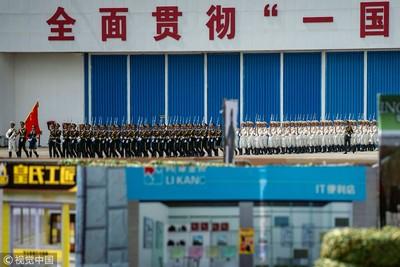 環時提醒:解放軍就駐紮在香港