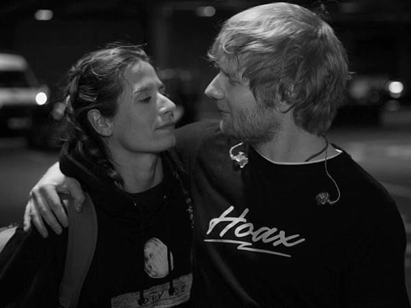 紅髮艾德(Ed Sheeran)和Cherry Seaborn。(圖/翻攝自紅髮艾德IG)