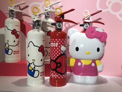 Hello Kitty滅火器攻台超可愛!