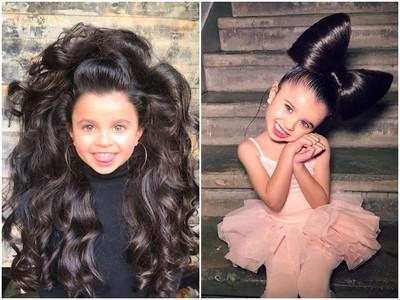 半屏山髮型也萌翻❤ 5歲美髮蘿莉吸6.2萬粉 網酸:別再曝光她!