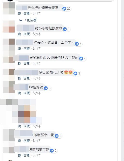 ▲▼網友被小姊妹萌翻,「迷你版修賈夫妻。」(圖/翻攝自臉書/修杰楷)