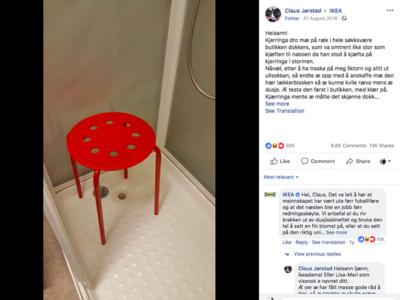 蛋蛋卡進板凳洞!挪威男慘叫哭 「兇手」IKEA無辜回:下次鋪毛巾啦
