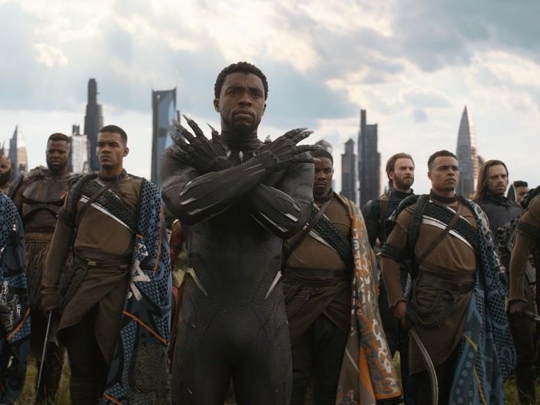 《黑豹》。(圖/《復仇者聯盟3:無限之戰》首圖)