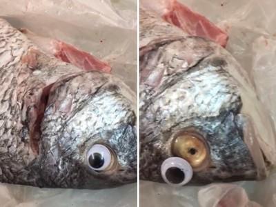 死魚顯靈「眼球轉一圈」 媽媽手指一摳…怒罵魚販:退錢啦!