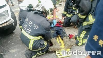 快訊/汙水處理工程塌陷!2工人落坑受傷送醫