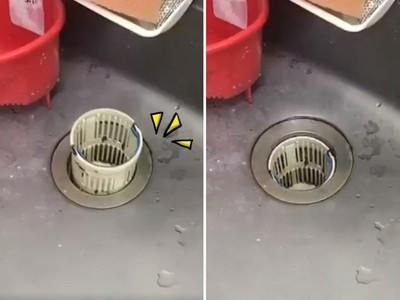 看「活塞運動」學氣壓!日本颱風吹太強,內外壓力差狂擠廚房濾杯