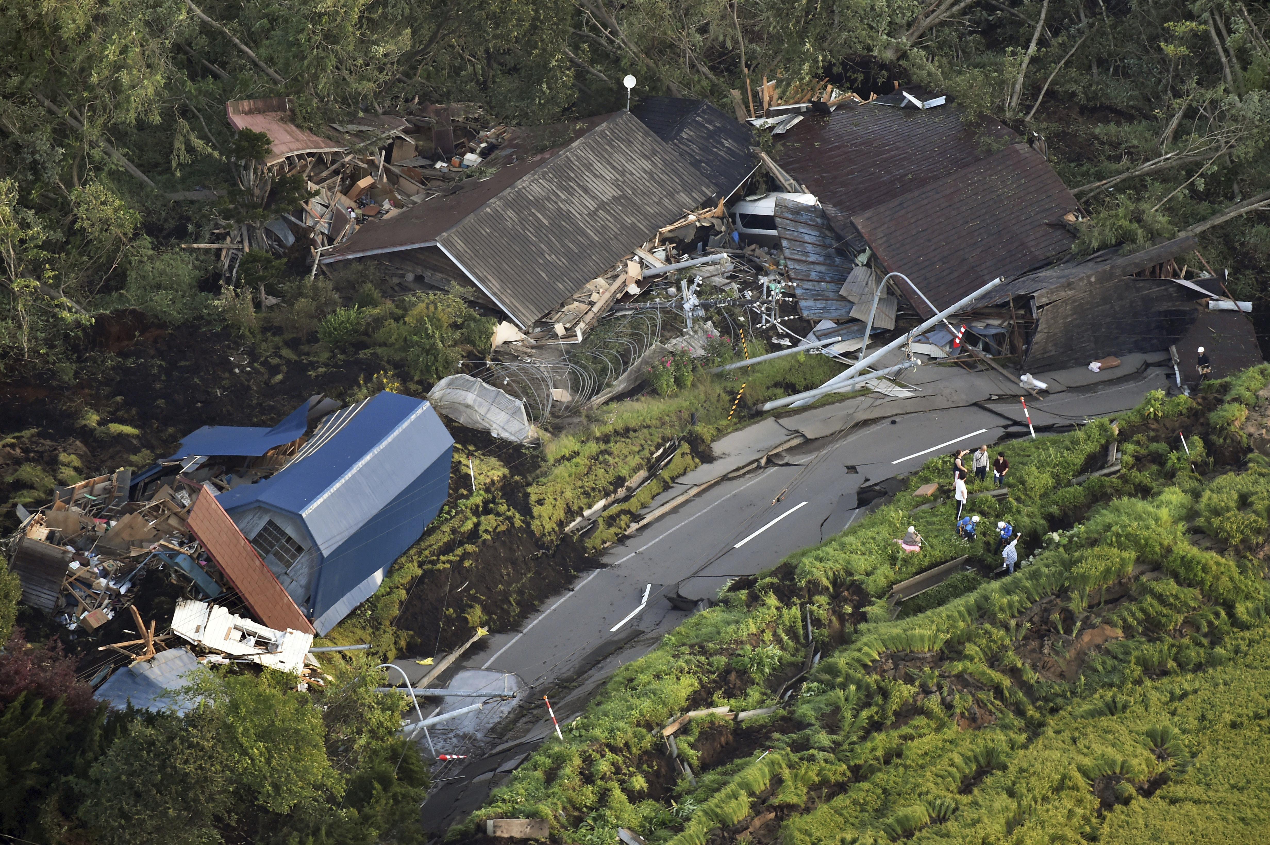 ▲▼北海道地震,厚真町發生山崩。(圖/達志影像/美聯社)