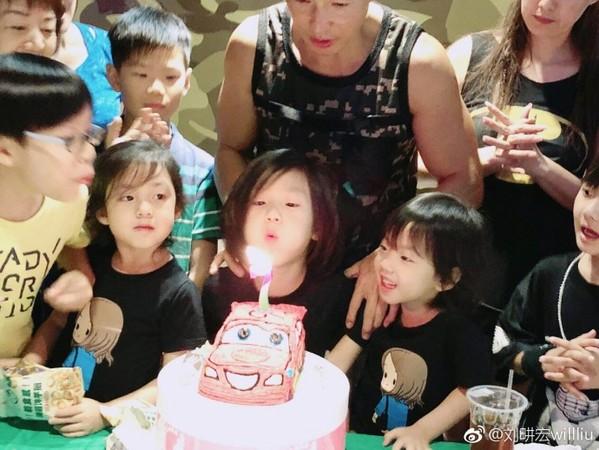 ▲劉畊宏兒子7歲生日。(圖/翻攝自微博/劉畊宏)