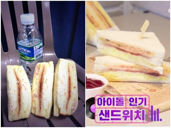 ▲▼《人氣歌謠》的三明治讓許多偶像們念念不忘。(圖/翻攝自推特、GS25 IG)