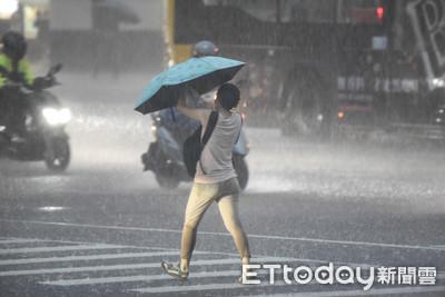 週末全台濕答答 11縣市大雨特報