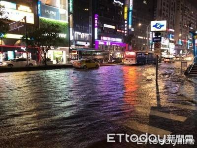 北北基桃16區再發大雷雨警報!北市多處淹