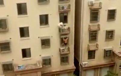 2分鐘爬4樓救童 男:爬樓沒什麼