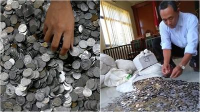 印尼超狂離婚 贍養費全用硬幣付 890公斤麻袋當場數錢